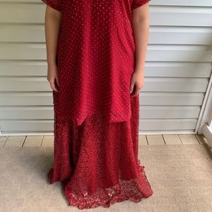 Dresses - Red Indian/Pakistani Lengha Choli